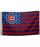 Chicago Cubs Baseball Stars and Stripes Banner Flag 3'x5' - $19.99