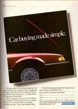1985 Honda Motor Company Automobile Car Vintage Print Ad Advertisement 1... - $6.07