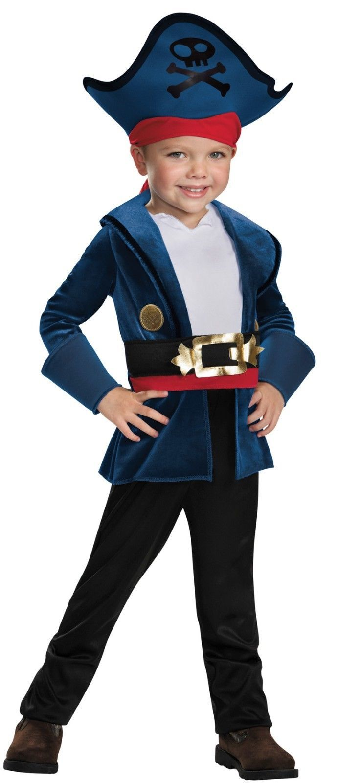 Toddler Disney Licensed Captain Jake/Jake & The Neverland Pirates Costume