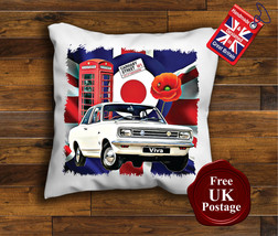 Vauxhall Viva Cushion Cover, Viva Cushion, Union Jack, Mod Target, Poppy, - $9.01+