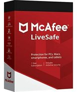 MCAFEE LIVESAFE 2020 Unlimited Devices-5 Year  Renewal - Windows Mac Android - $73.99