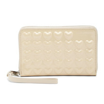 Marc Jacobs Collection Seashell Heart Patent Leather Wingman Wristlet Wallet NWT - $1,113.26