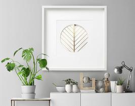 Leaf, Circle, Feather, Wall Sculpture, wall decor,Paper sculpture,pepercut - $125.00