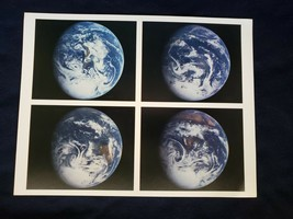 JPL NASA  Around the Globe Galileo Image of Earth Photograph 1990! - $7.70