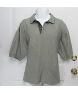 New Sz XL Haley Signature Mens Green Beige Mix Cotton Collar SS Polo Rug... - $14.50