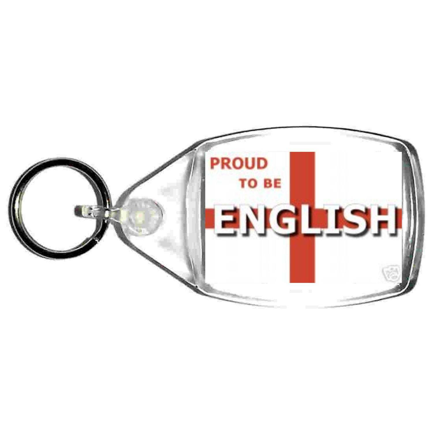 proud to be english flag of england  keyring  handmade in uk from uk made parts,