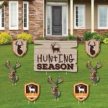 Gone Hunting - Yard Sign and Outdoor Lawn Decorations - Deer Hunting Cam... - $49.93