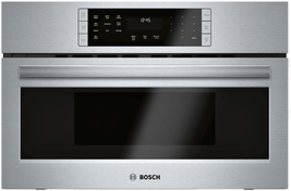 Bosch HMC80252UC 800 Series 30 Inch Speed Oven 1.6 cu. ft. Capacity Stai... - $1,084.11