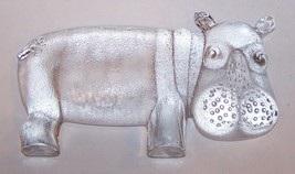 "Vintage Kosta Boda Mcm Art Glass Bertil Vallien Zoo Series 9"" Hippopotamus - $105.18"