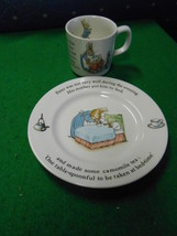 Great Collectable Wedgwood Child's Mug And Plate Peter Rabbit.......Sale - $17.42