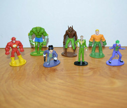 DC COMICS MINIFIGURES Lot Plastic Figurines Man-Bat Killer Croc Joker Aq... - $12.13