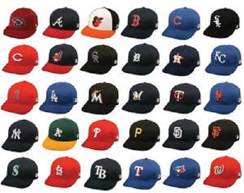 New MLB Youth Cotton Twill Raised Replica Baseball Hat 300 -Select- Team Below