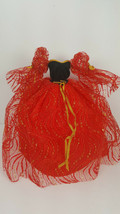 "Vintage Red Party Dress + Red Heels for 11 1/2"" Doll from Brittany Fits Barbie - $19.95"