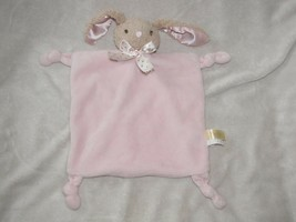 Dan Dee Pink Bunny Lovey Security Blanket Rabbit Plush Rattle Knotted Co... - $23.74