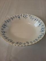 "Royal Albert Memory Lane Bone China 9"" Oval Vegetable Bowl Blue Flowers  - $29.02"