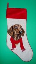 Red Dachshund Christmas Holiday Stocking - $19.50