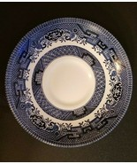 Churchill England, Vintage, Blue Willow China Saucer - rare CC stamp on ... - $4.89