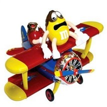 M&M's World Red and Yellow Character Barnstorming Airplane Candy Dispenser - $32.96