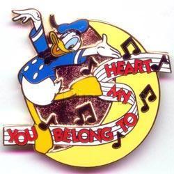 Disney Donald Duck My Heart Belongs to You Pin/Pins