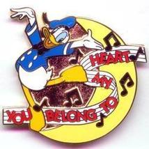 Disney Donald Duck My Heart Belongs to You Pin/Pins - $14.50