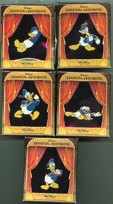 Disney  Donald Duck Set of 5 LE Pin/Pins