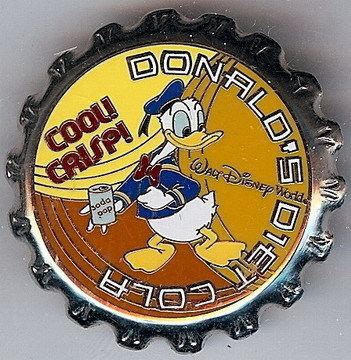 Primary image for Disney Donald Duck Soda Pop bottle top Pin/Pins