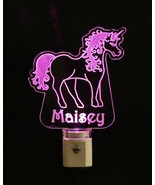 Custom Unicorn shaped Night Light LED, Nursery, Animal, with name - $23.50