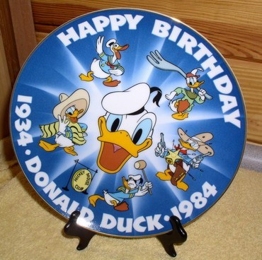 Disney Donald Duck dated 1934 - 1984 PLATE