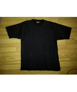 BTL Signature Series 100% Cotton Casual Blank Plain Black Tee T-Shirt L ... - $4.99