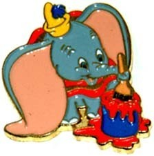 Disney Dumbo holding Paint Brush Cast  Member Pin/pins