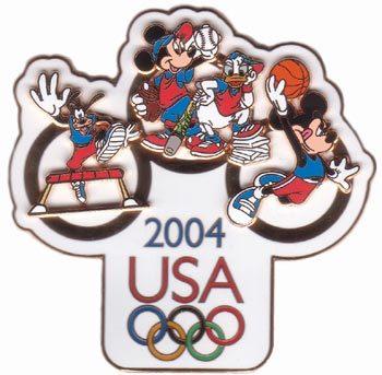 Disney Fab 4 Goofy Mickey Minnie Donald Jumbo Pin/Pins