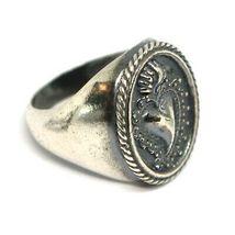 Silver Ring 925, Sacred Heart Mary Jane, Effect Antique, Burnished, Band image 2