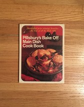 Vintage 1968 Pillsbury Bake-off Main Dish Cookbook- hardcover
