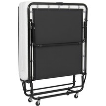 Eight24hours Folding Rollaway Guest Bed Cot With Memory Foam Mattress Ea... - $334.00
