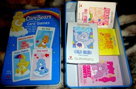 Care Bears 4 Card Game Memory Match 2004-Tin Container - $14.00