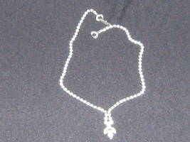 Vintage Clear White Rhinestone Drop Choker Necklace C - $29.99
