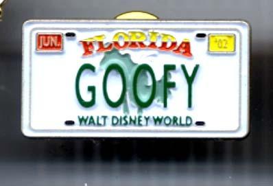 Disney Goofy License Plate CM new Pin/Pins
