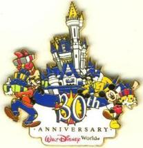 Disney Goofy Pluto Mickey 30th Ann. Castle   Pin/Pins - $19.98