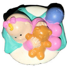 Fisher Price Little People Pink Bow & Blue Ball In Basket Htf! Rare - $19.79