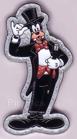Disney Goofy formal tuxedo glitter retired Pin/pins