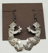 Vintage Hopi Native American Sterling Silver Mudhead Kachina Dangle Earr... - €48,92 EUR