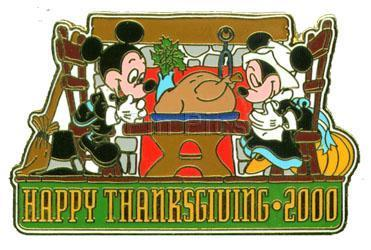 Disney Happy Thanksgiving Mickey & Minnie pin/pins