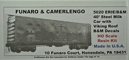 Funaro & Camerlengo HO Boston & Maine 40' Steel Milk Car Kit 5020 image 1