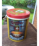 QUAKER BEST YELLOW CORN MEAL Round Tin by CHEINCO HOUSEWARES  tin can L... - $45.00