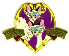 Disney  Lady & the Tramp Si & Am Cats  pin/pin
