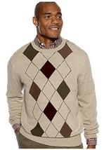 NWT Saddlebred XL Cotton Blend Knit Crew Neck Sweater Putty Heath. Multi... - $11.87