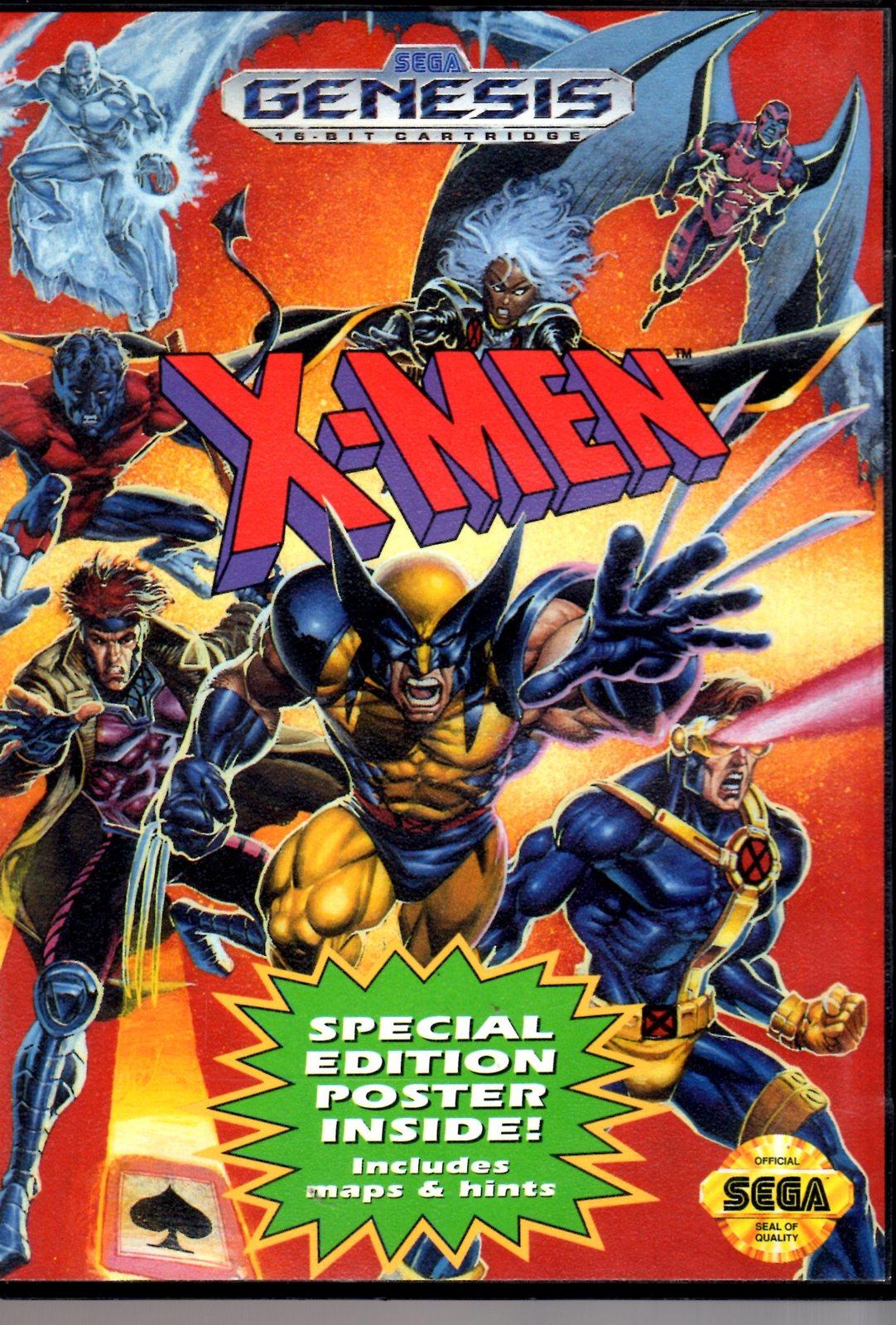 X-Men (Sega Genesis Game)  Complete with Case & Manual