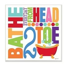 Stupell Home Décor Bathe Everyday Head 2 Toe Colorful Bath Art (Multicolor) - $38.91