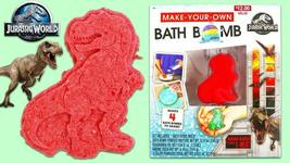 Jurassic World Make Your Own Bath Bomb Makes 4 Bath Bombs T-Rex NEW in BOX image 3