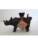 Vintage Cast Meta;  Rhino Candle Holder Reduced Price: Special Item - $14.99